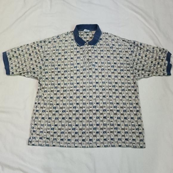 Vintage Columbia Golf Polo Shirt Men's Size Large